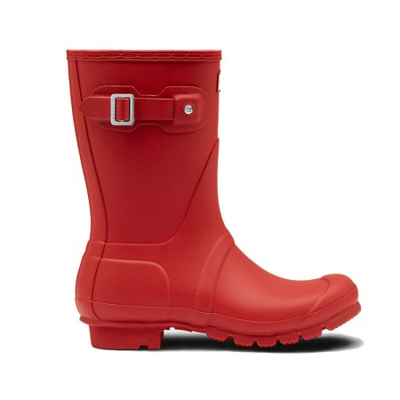 Hunter - Woman's Original Wellington Short Boot Red