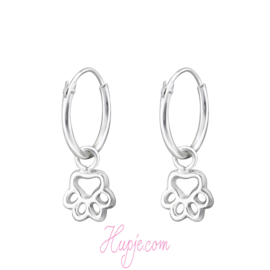 zilveren oorbellen hondenpootjes