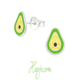 Silberne Ohrringe Avocado