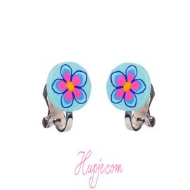 SOUZA clipoorbellen bloem rond blauw
