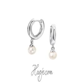 zilveren oorbellen creolen parel