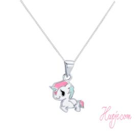 Silberne Kinderkette Einhorn Pinky Pie