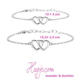 zilveren moeder-dochter armbandjes (2 stuks) FOR ALWAYS & FOREVER