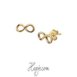 oorbellen infinity goud op zilver