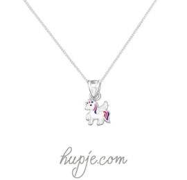 zilveren kinderketting lovely unicorn