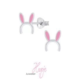 zilveren kinderoorknopjes bunny