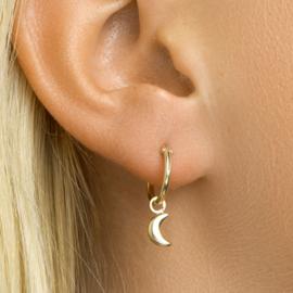 zilveren oorbellen golden hoops Moon