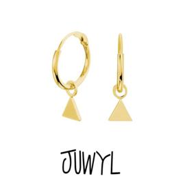 zilveren oorbellen golden hoops Triangle