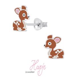 zilveren kinderoorbellen hertje Bambi