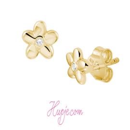 14 karaat gouden bloem met Zirkonia
