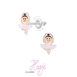 zilveren kinderoorbellen ballerina (met schroefsluiting!)