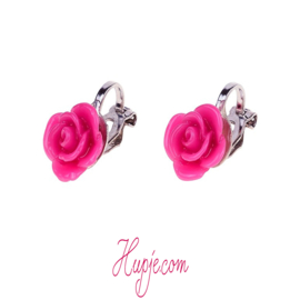 SOUZA clipoorbellen roos donker roze