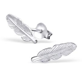zilveren oorbellen veertjes