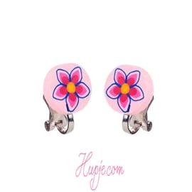 SOUZA clipoorbellen bloem rond roze