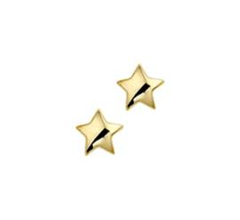 14 Karat Gold Ohrringe Stern