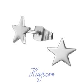 oorbellen chirurgisch staal ster