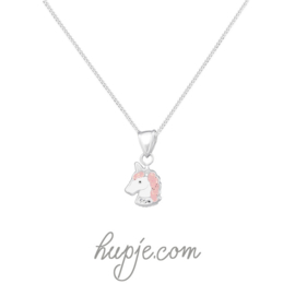 zilveren kinderketting sparkling unicorn
