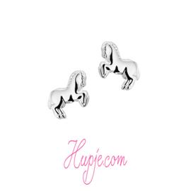 zilveren kinderoorbellen paard