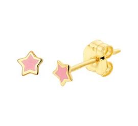 14 karaat gouden kinderoorbellen ster