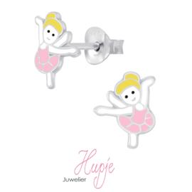 zilveren kinderoorbellen dans ballet meisje blond