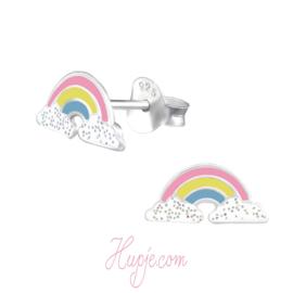 Silberne Kinderohrringe Sparkling Rainbow