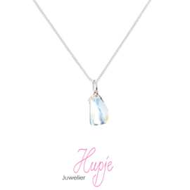 zilveren ketting met edelsteen hanger Opaliet