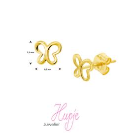 14 karaat gouden kinderoorbellen vlinder