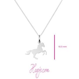 Silberne Kinderkette Pferd