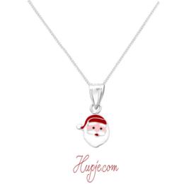 zilveren ketting kerstman