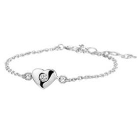 Silberne Armbänder Herz + Zirkonia