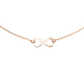 rosegouden ketting infinity