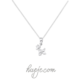 zilveren kinderketting giraffe