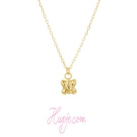 14 Karat Gold Kinderkette Schmetterling