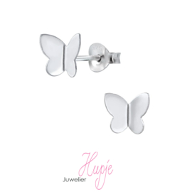 zilveren kinderoorbellen vlinder zilver