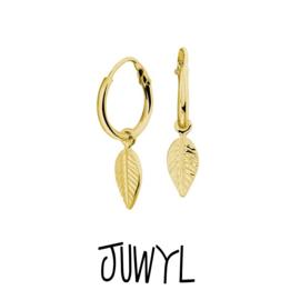zilveren oorbellen golden hoops Feather