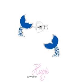 zilveren zeemeermin staart blauw