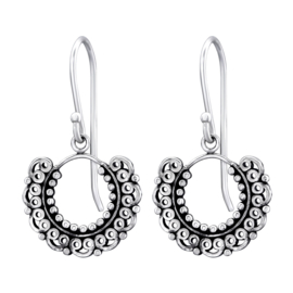 Zilveren hangers beauty cirkle