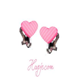 SOUZA clipoorbellen hartje roze streep