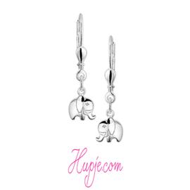 zilveren oorbellen olifant brisure sluiting