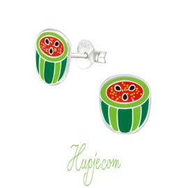 Silberne Ohrringe Melone