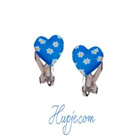 SOUZA clipoorbellen hartje blauw bloem