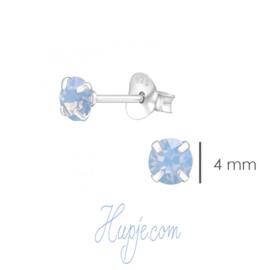 zilveren kinderoorbellen Air Blue Opal Swarovski®