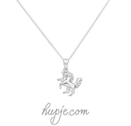 zilveren kinderketting eenhoorn