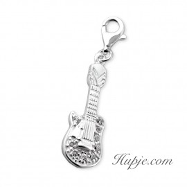 zilveren bedel gitaar