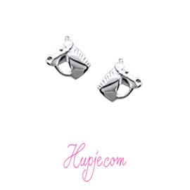 Silberne Ohrringe Pferdekopf