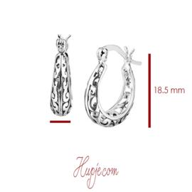 zilveren oorbellen natural beauty