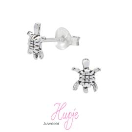 zilveren kinderoorbellen schildpad