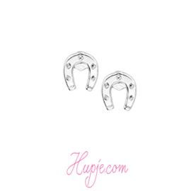 Silberne Ohrringe Hufeisen