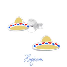 zilveren kinderoorbellen hoed