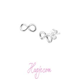 zilveren oorbellen infinity